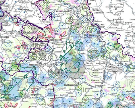 """Bildausschnitt aus dem """"Avifauna-Konzept zum Teilregionalplan Energie Nordhessen""""."""